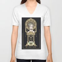 great gatsby V-neck T-shirts featuring The Great Gatsby by Lindsay Hubbard