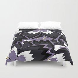 Purple floral jam Duvet Cover