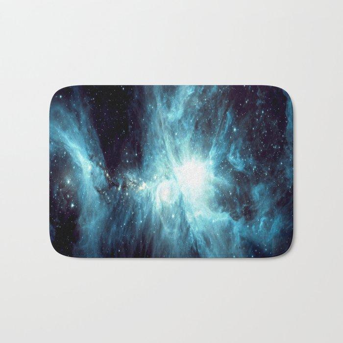 Orion Nebula Teal Bath Mat