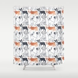 dogs pattern Shower Curtain