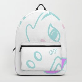 Boo or Purr Halloween Pun Backpack