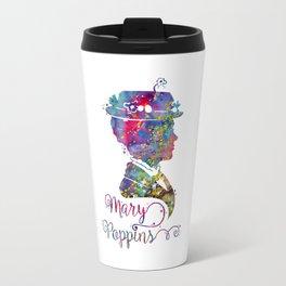 Mary Poppins Portrait Silhouette Travel Mug