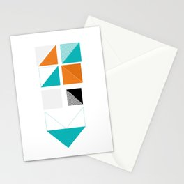 Squares // number two Stationery Cards