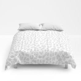 Pale Gray Leopard Comforters