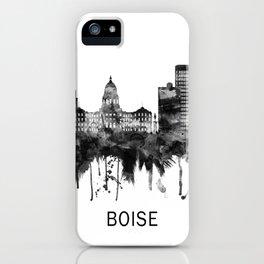 Boise Idaho Skyline BW iPhone Case
