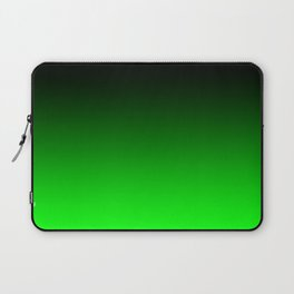 Black Lime Green Neon Nights Ombre Laptop Sleeve