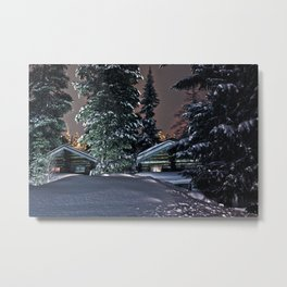 Winter in Lapland Finland  Metal Print