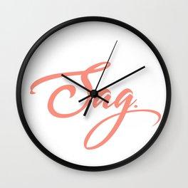 Sag Wall Clock
