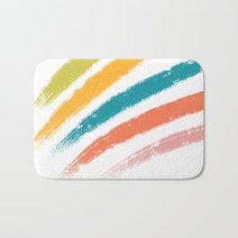 Retro Rainbow Bath Mat