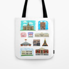 Buildings of Warren Ohio Tote Bag