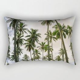 Palm Trees Kauai Hawaii Printable Wall Art | Tropical Beach Nature Ocean Coastal Travel Photography Print Rectangular Pillow