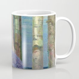 Wysteria Fountain And Poplar Trees by Emilie Mediz-Pelikan Coffee Mug