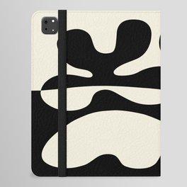 Mid Century Modern Organic Abstraction 235 Black and Linen iPad Folio Case