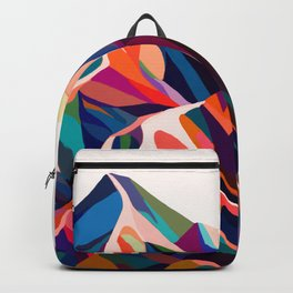 Mountains sunset warm Backpack