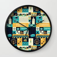 divergent Wall Clocks featuring Divergent items by Isabelle Silva