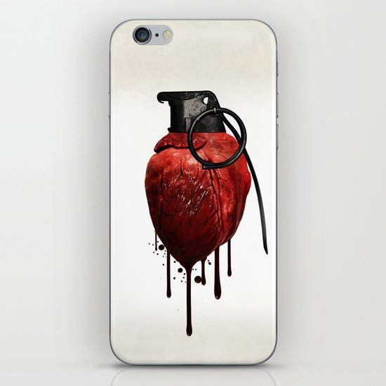 Heart Grenade iPhone & iPod Skin