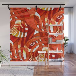That's How I Whirl (orange) Wall Mural