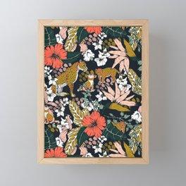 Animal print dark jungle Framed Mini Art Print