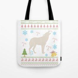 Wolf Hunting Christmas ugly Holiday Shirt Tote Bag