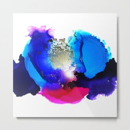 Liquid Petunia Metal Print