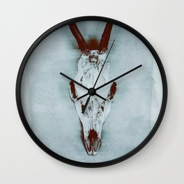 The haunted deer skull Wall Clock