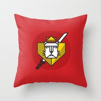 gryffindor Throw Pillows featuring Gryffindor House Crest Icon by Manuja Waldia