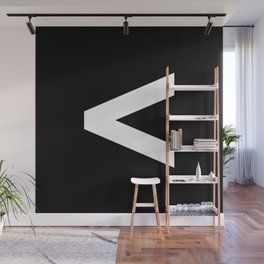 Less-Than Sign (White & Black) Wall Mural