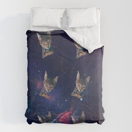 Space Angry Cat, Funny Cute Galaxy Cat Gift, Cat Lover, Dank Meme Space Kitty, Animal Lover, Kitten Comforters