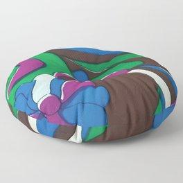Psychedelic Garden Floor Pillow