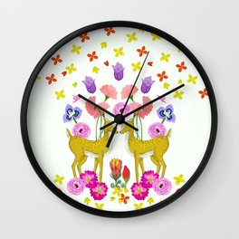 Oh deer, are you lost in Nature? Wall Clock
