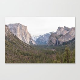 Tunnel View Yosemite National Park California USA Canvas Print