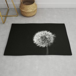 Black and White Dandelion Rug