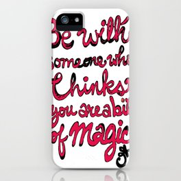 Be With Someone Hearty! Be With Someone's Heart iPhone Case