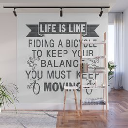 Riding A Bicycle Wall Mural
