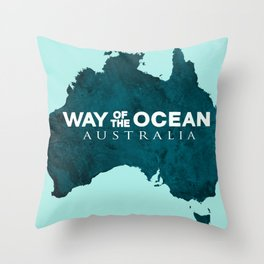 WAY OF THE OCEAN - Australia Throw Pillow