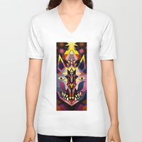 wolves V-neck T-shirts featuring Wolves by youareconstance