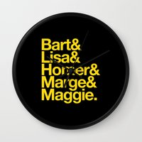 simpsons Wall Clocks featuring Simpsons by Outside In