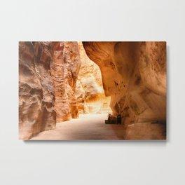 Rock formation in Wadi Rum desert in Jordan Metal Print