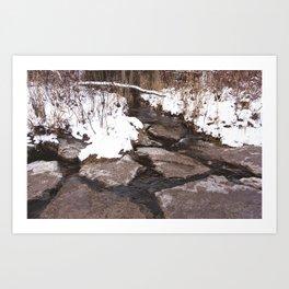 Scarborough Bluffs in Winter on December 27th, 2020. XVIII Art Print