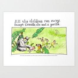Camilla met a Gorilla Art Print