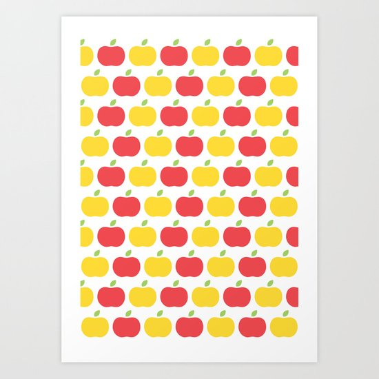 The Essential Patterns of Childhood - Apple Art Print