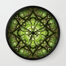 four leaf clover in a diamond Wall Clock