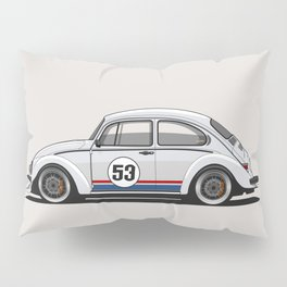 Legendary Custom Herbie 53 Bug Vintage Retro Cool German Car Wall Art and T-Shirts Pillow Sham