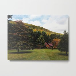 Cabin in the Valley Metal Print