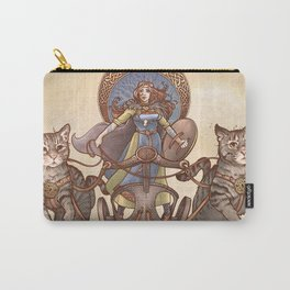 Freya Driving Her Cat Chariot Carry-All Pouch