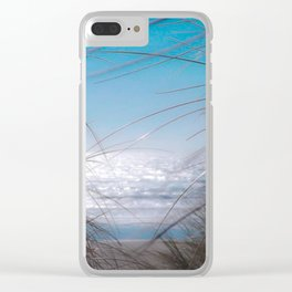 Beach Sand Dunes and Grass on the Oregon Coast Clear iPhone Case