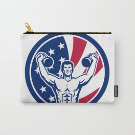 American Physical Fitness USA Flag Icon Carry-All Pouch