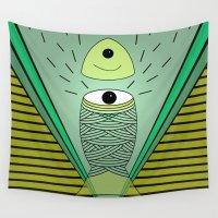 illuminati Wall Tapestries featuring ins-eye-d by AmDuf