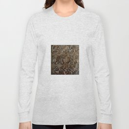 Bronze Metal Wood Abstract Painting Long Sleeve T-shirt