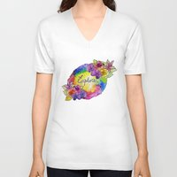 explore V-neck T-shirts featuring explore! by Luna Portnoi
